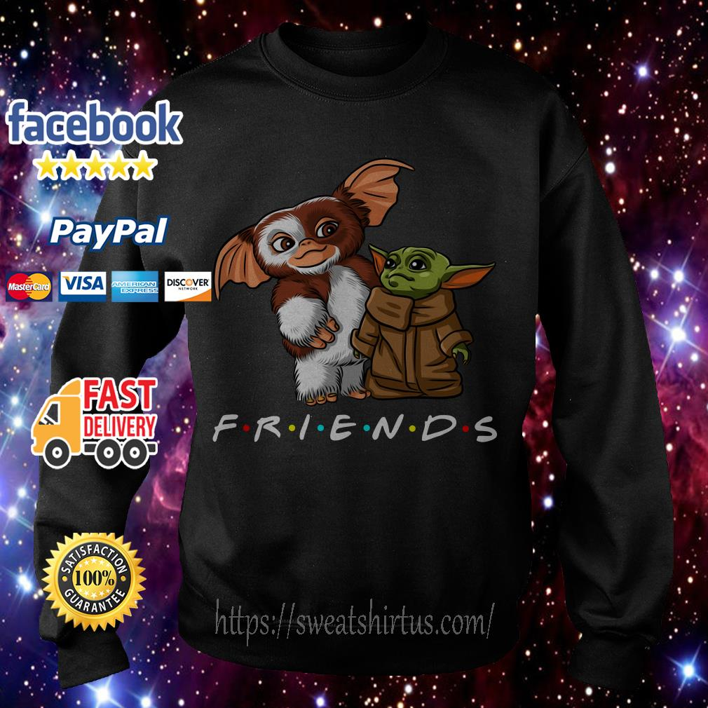 Gremlins and Baby Yoda Mandalorian Friends TV Show Sweater