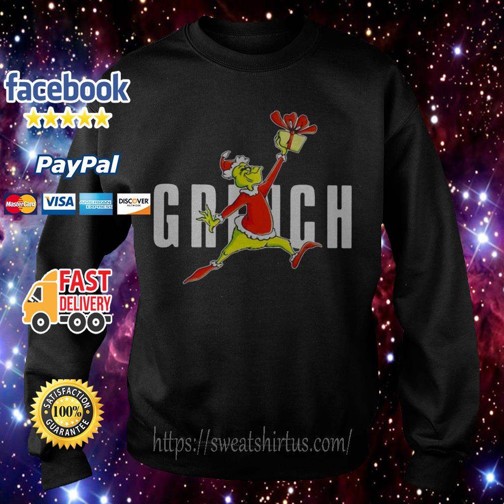 Grinch Santa slam dunk gift Christmas shirt, sweater