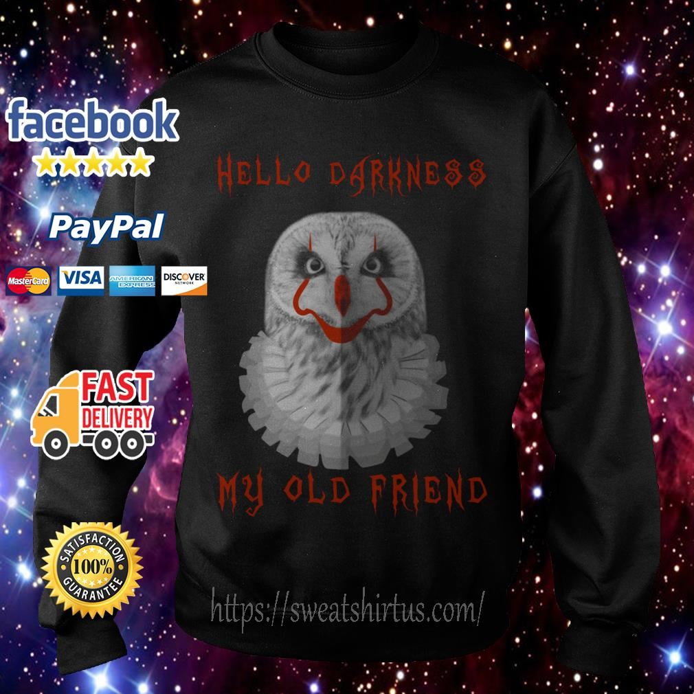 Hello Darkness IT Owl My old Friend Sweater
