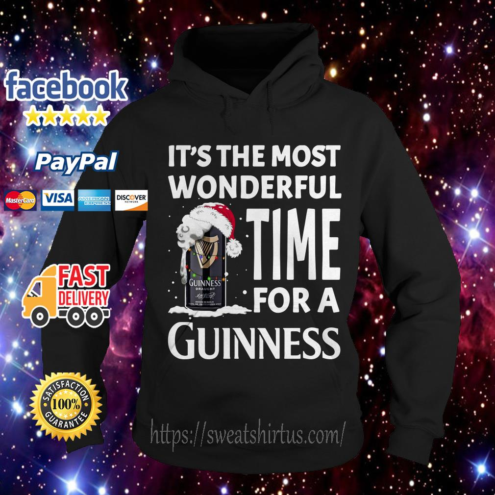 It's the most wonderful time for a Guinness Christmas Hoodie