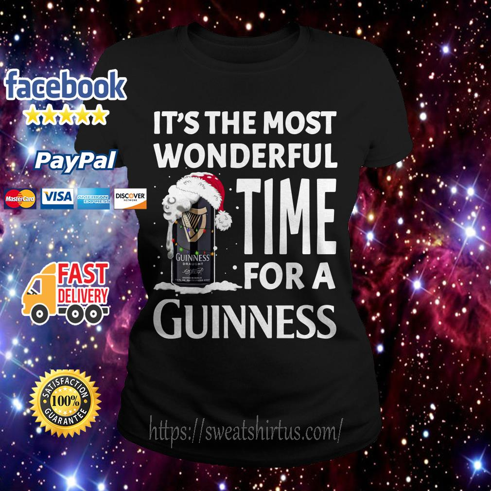 It's the most wonderful time for a Guinness Christmas Ladies Tee
