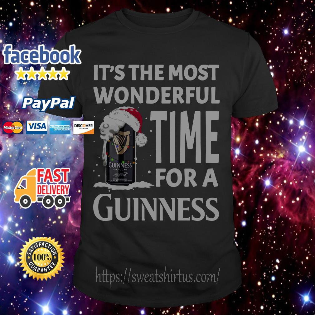 It's the most wonderful time for a Guinness Christmas guys shirt
