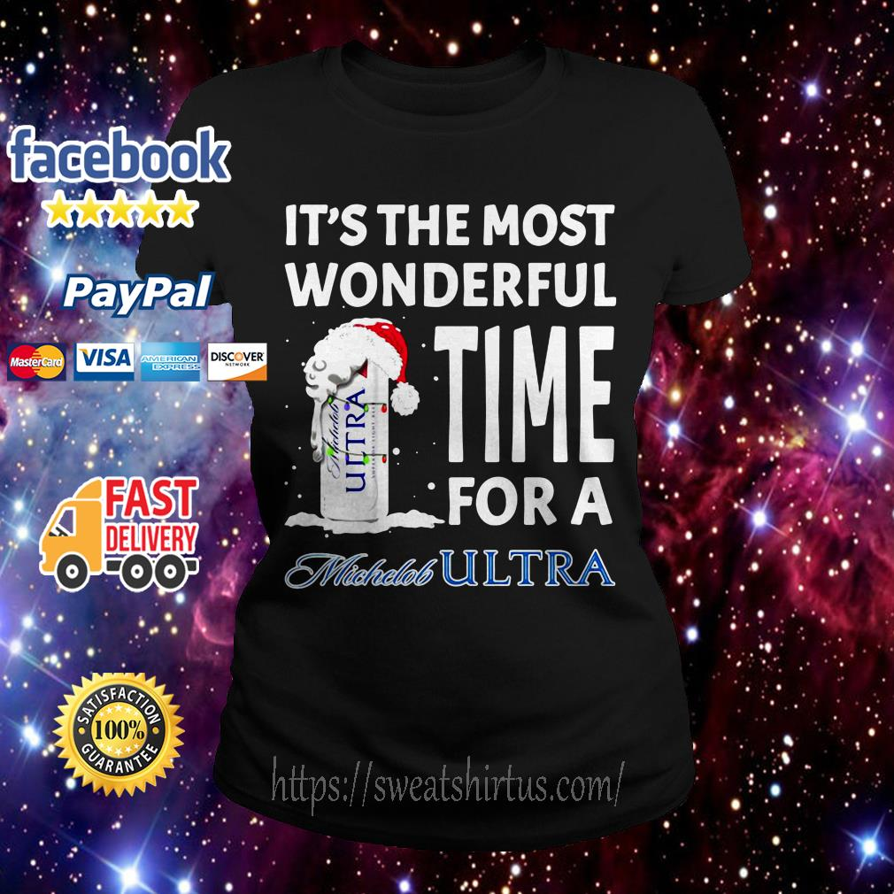 It's the most wonderful time for a Michelob Ultra Christmas ladies Tee