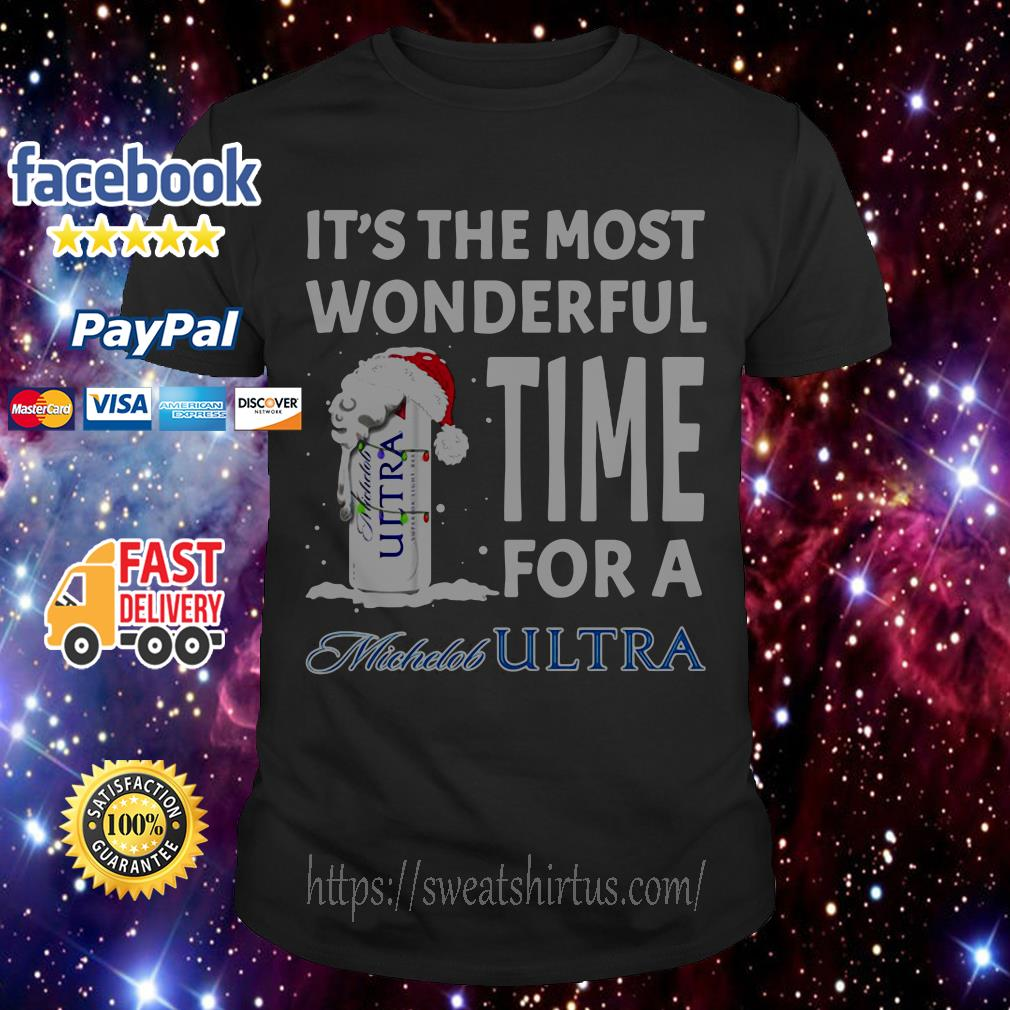 It's the most wonderful time for a Michelob Ultra Christmas guys shirt