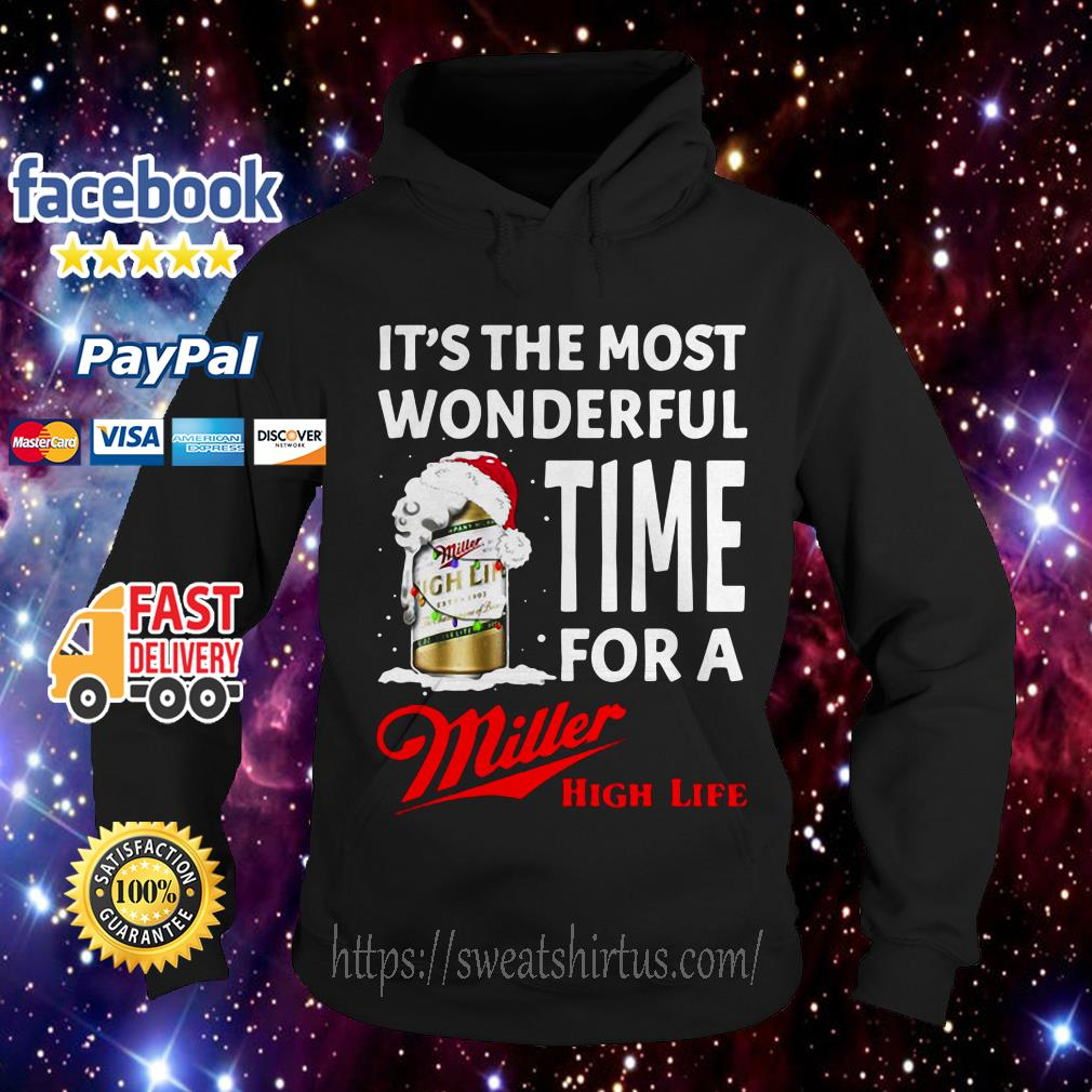 It's the most wonderful time for a Miller High Life Christmas Hoodie