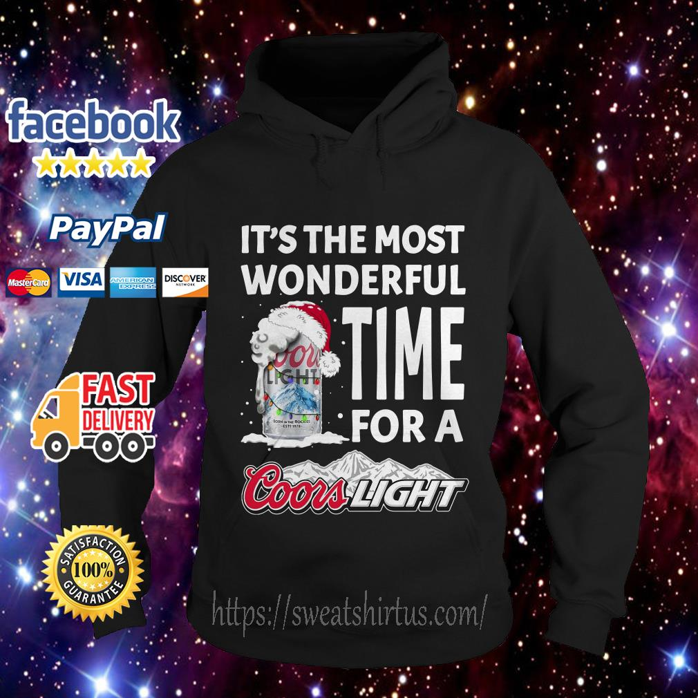 It's the most wonderful time for a Coors Light Christmas Hoodie