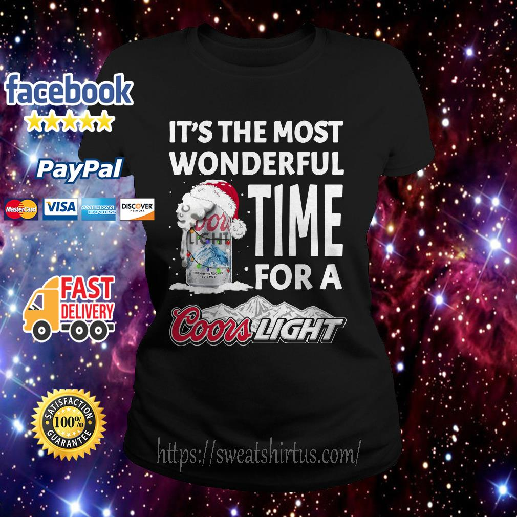 It's the most wonderful time for a Coors Light Christmas Ladies Tee