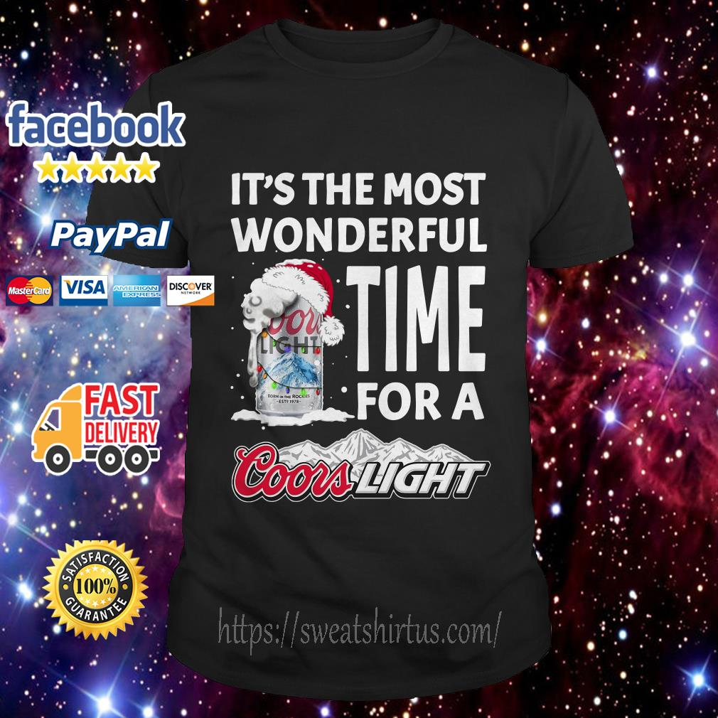 It's the most wonderful time for a Coors Light Christmas guys shirt
