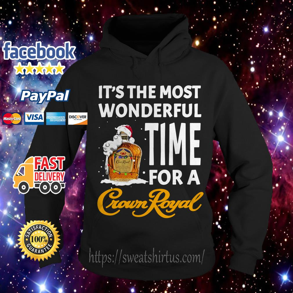 It's the most wonderful time for a Crown Royal Santa Christmas Hoodie