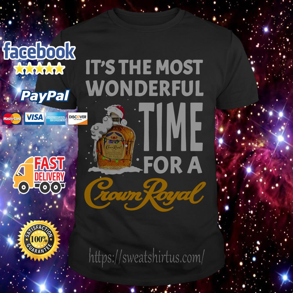It's the most wonderful time for a Crown Royal Santa Christmas guys shirt