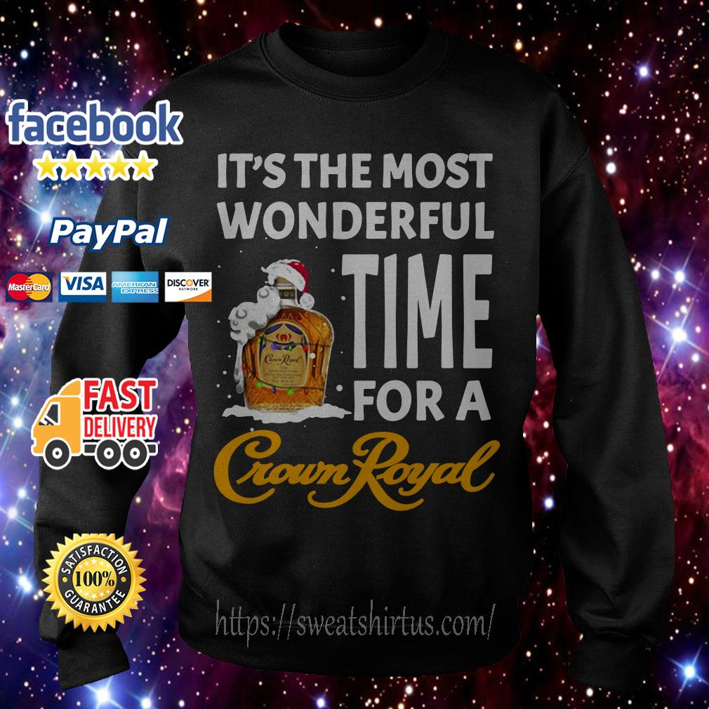 It's the most wonderful time for a Crown Royal Santa Christmas shirt, sweater