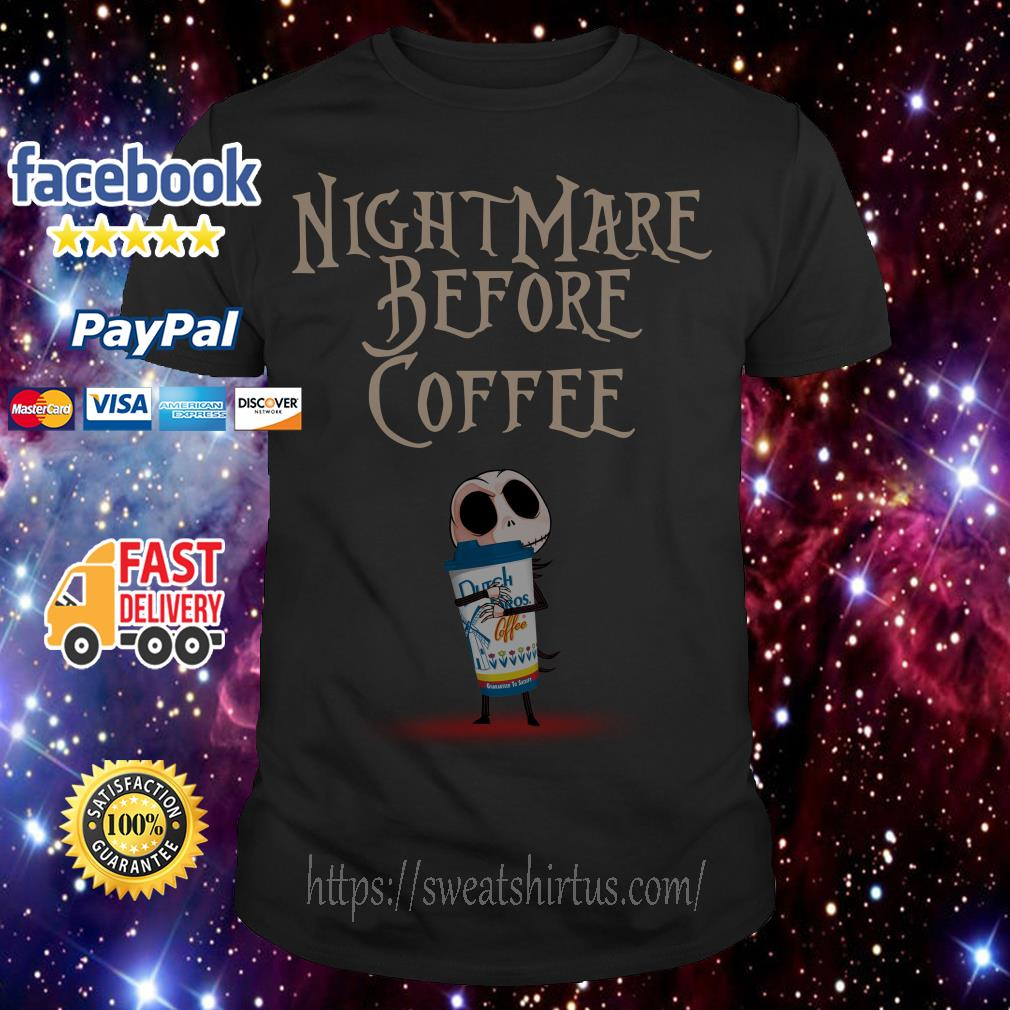 Jack Skellington hug Dutch Bros Coffee The Nightmare Before shirt