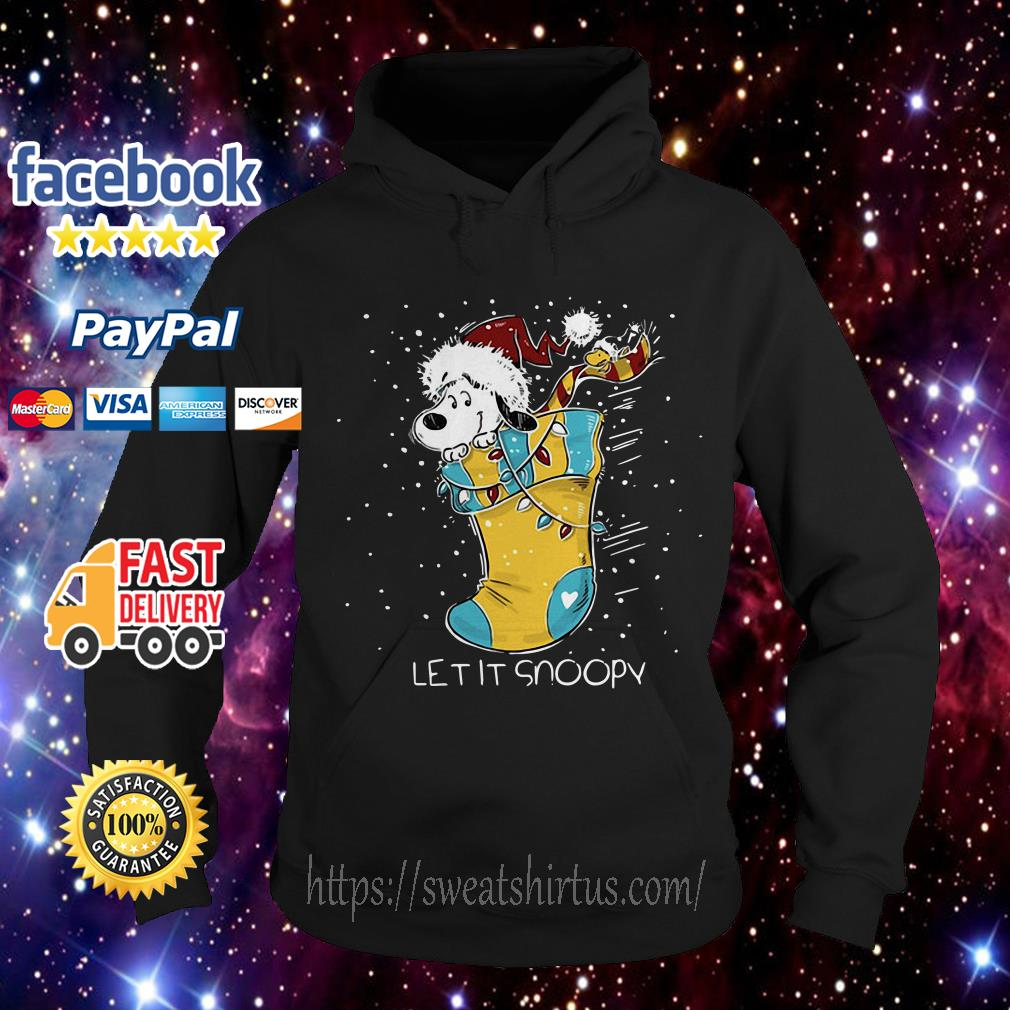 Let it Snoopy and Woodstock sock Christmas Hoodie