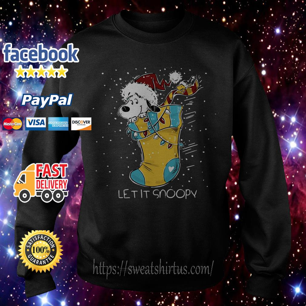 Let it Snoopy and Woodstock sock Christmas shirt, sweater