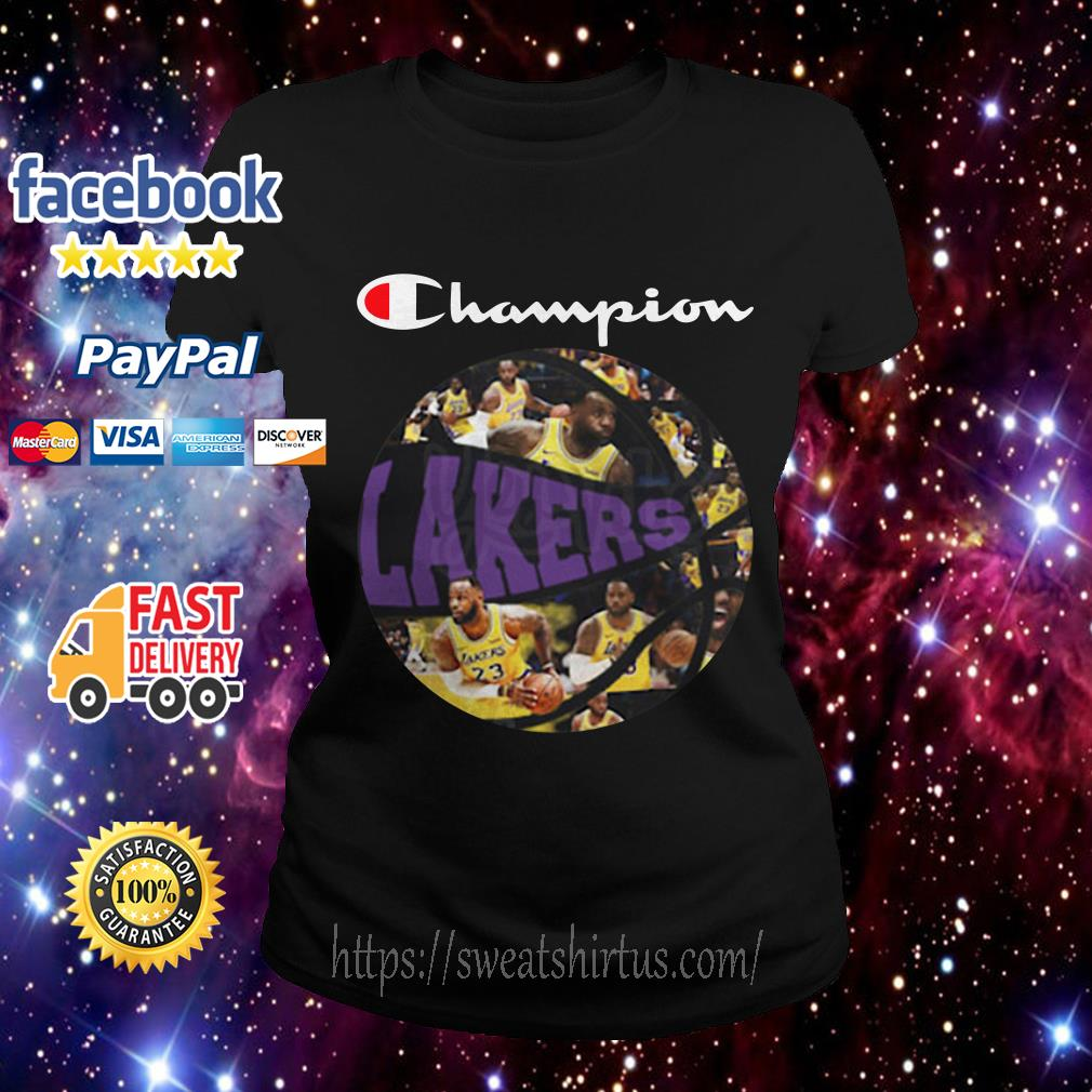 Los Angeles Lakers Champion Players Ball Ladies Tee