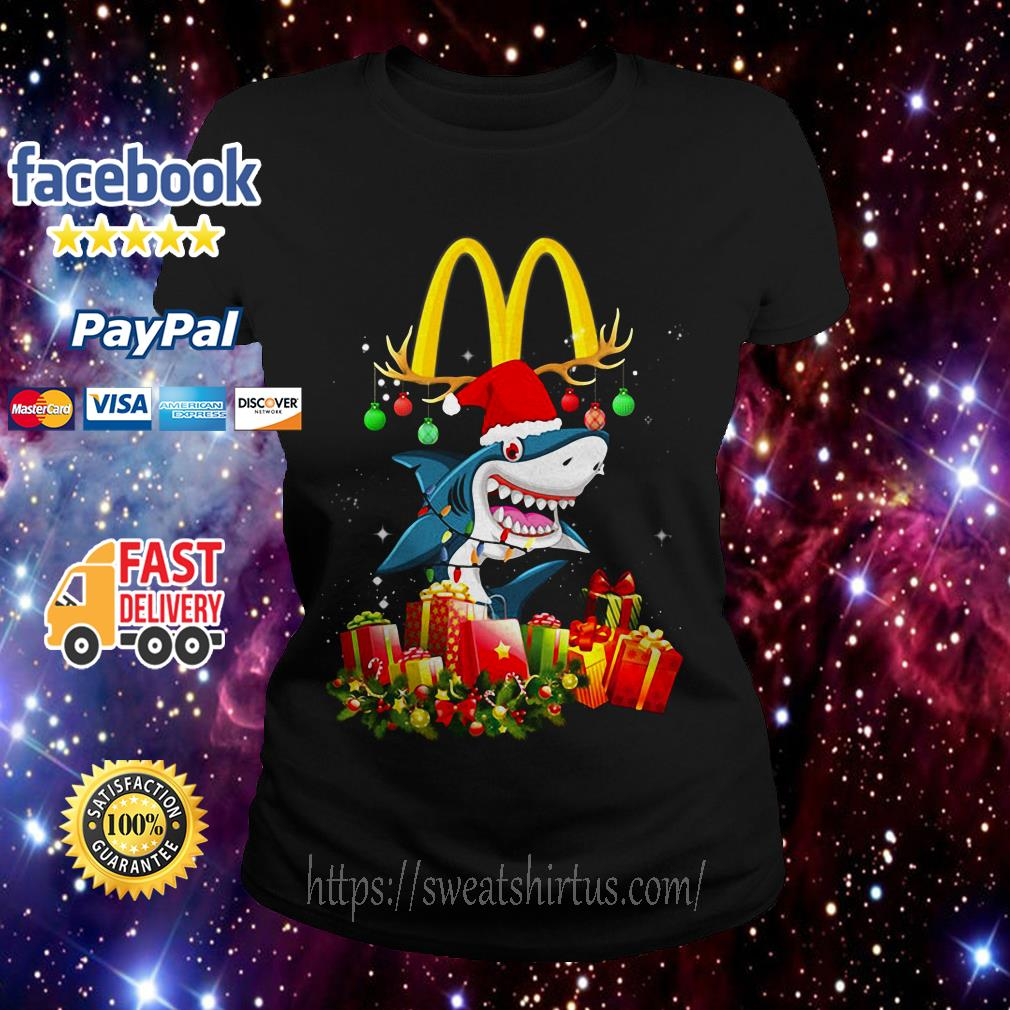Mcdonald's Shark Christmas Ladies Tee