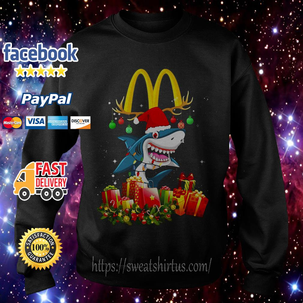 Mcdonald's Shark Christmas shirt, sweater