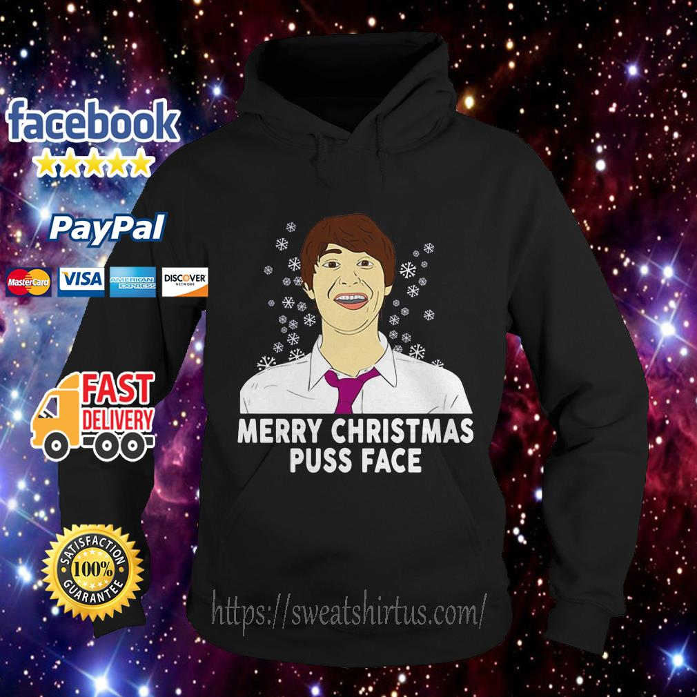 Merry Christmas puss face ugly Christmas Hoodie