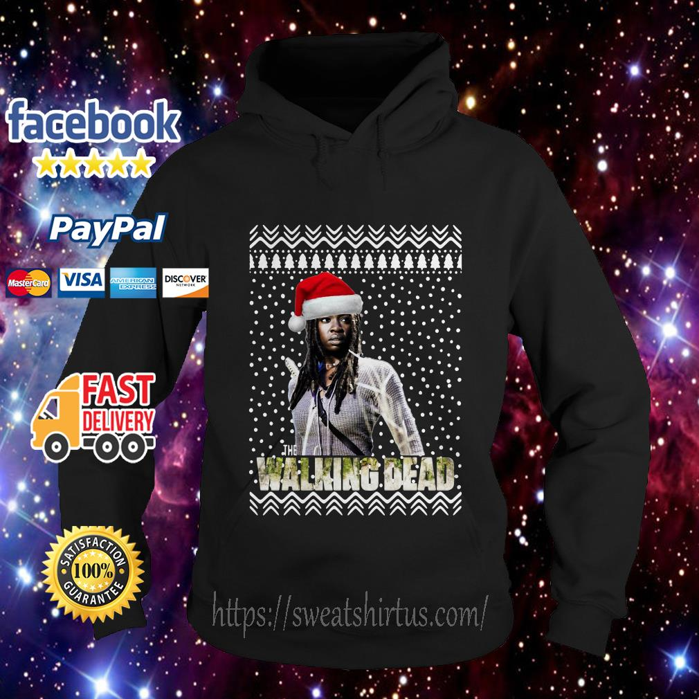 Michonne Santa The Walking Dead Christmas Hoodie