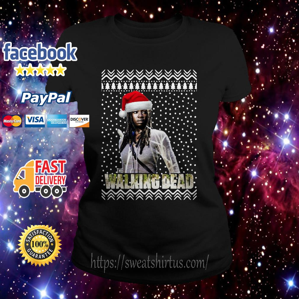 Michonne Santa The Walking Dead Christmas Ladies Tee