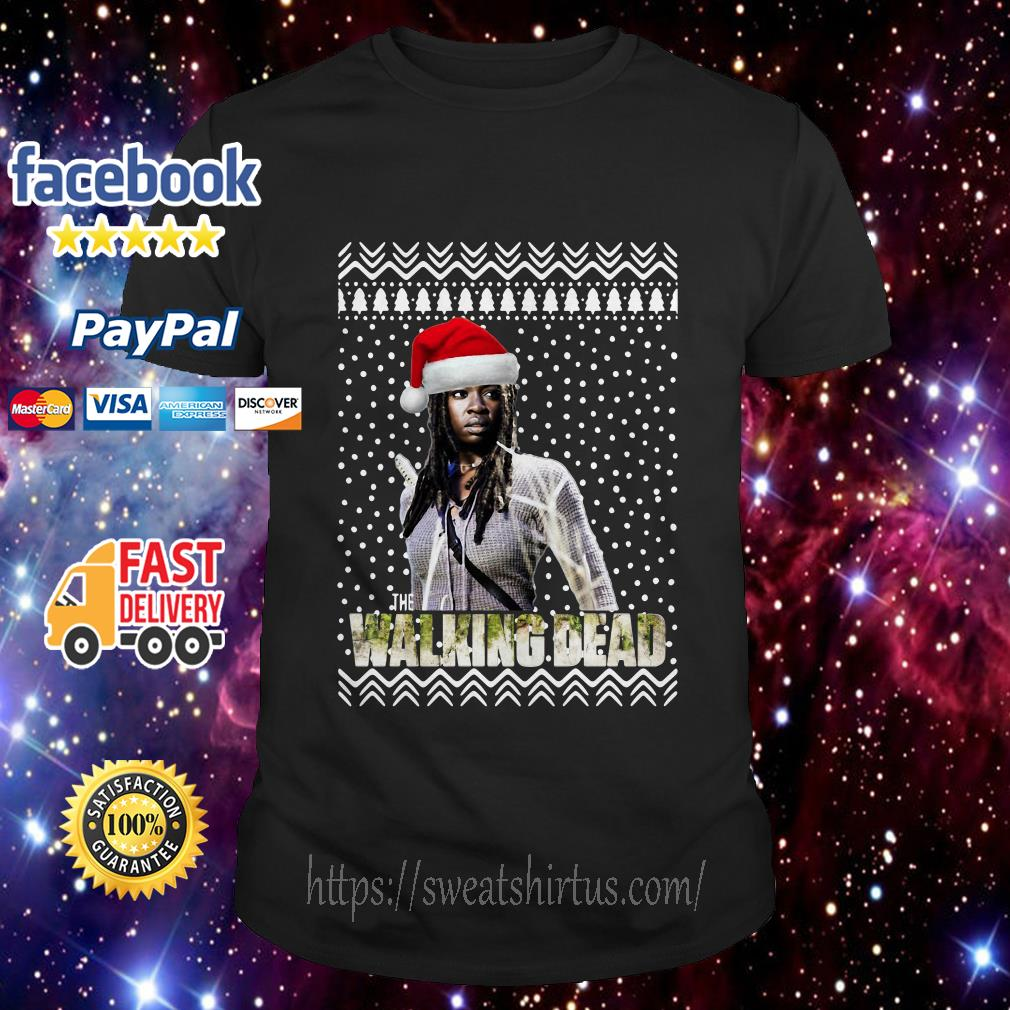 Michonne Santa The Walking Dead Christmas guys shirt