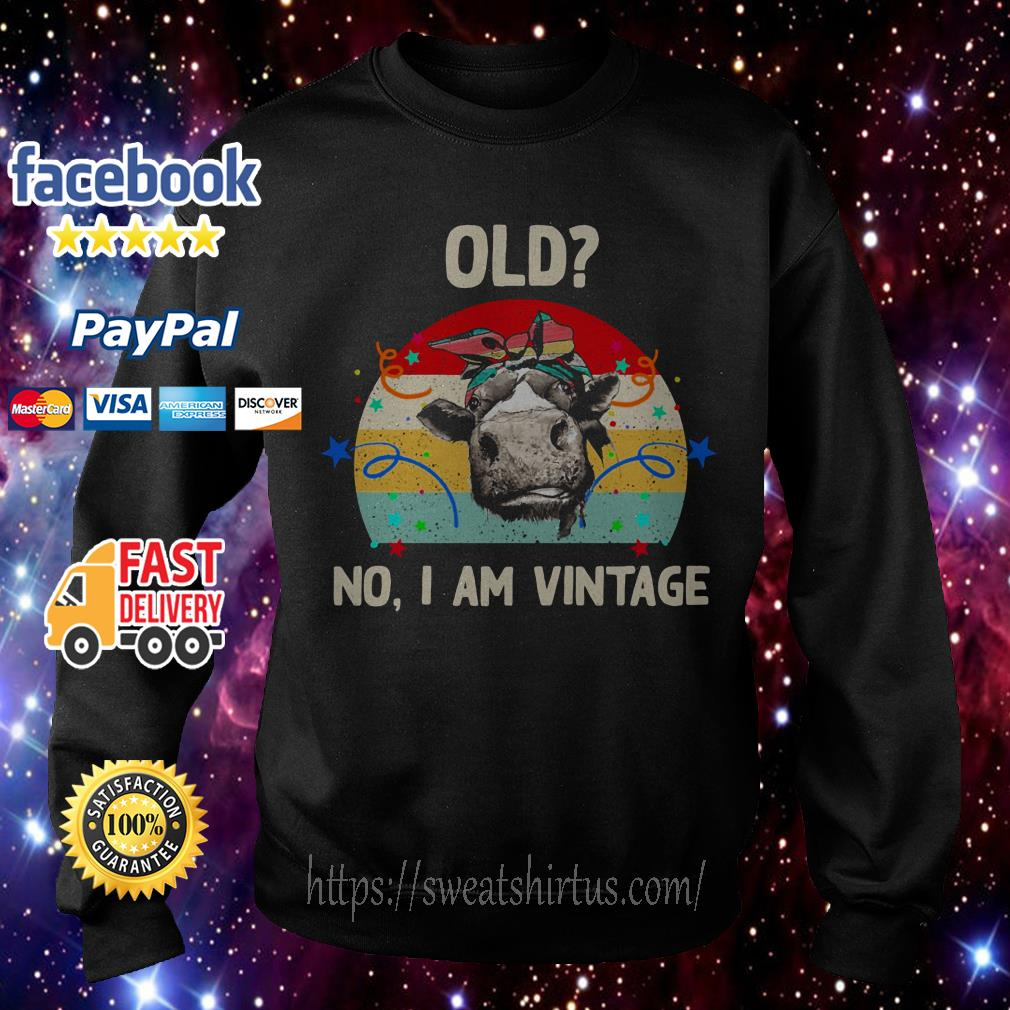 Old Cow no I am Vintage Sweater