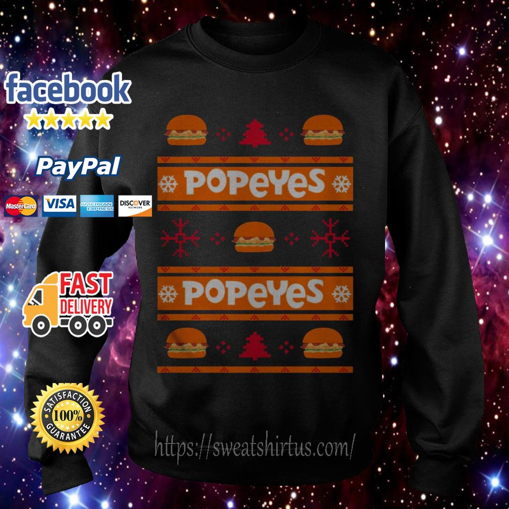 Popeyes Chicken Sandwich ugly Christmas shirt, sweater