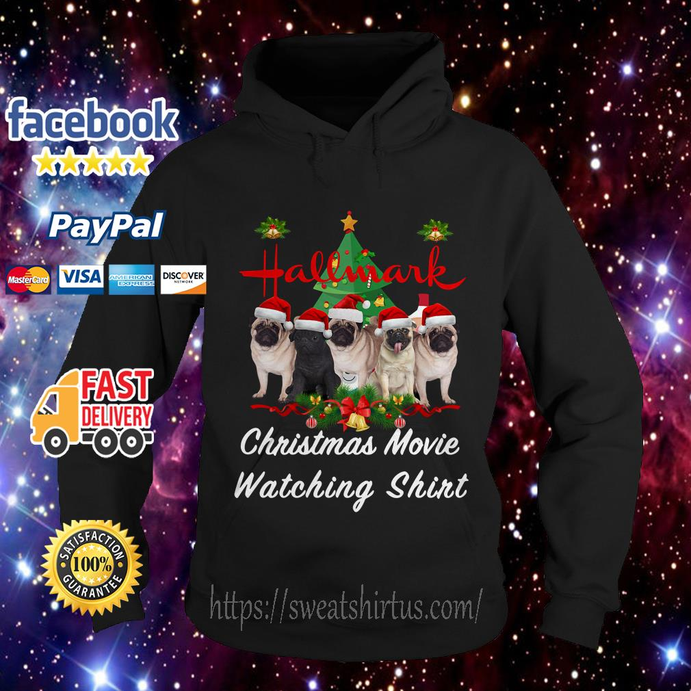 Pug dog Hallmark Christmas movie watching Hoodie