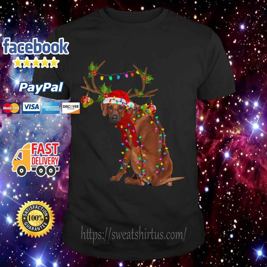 Rhodesian Ridgeback gorgeous reindeer Christmas shirt, sweater