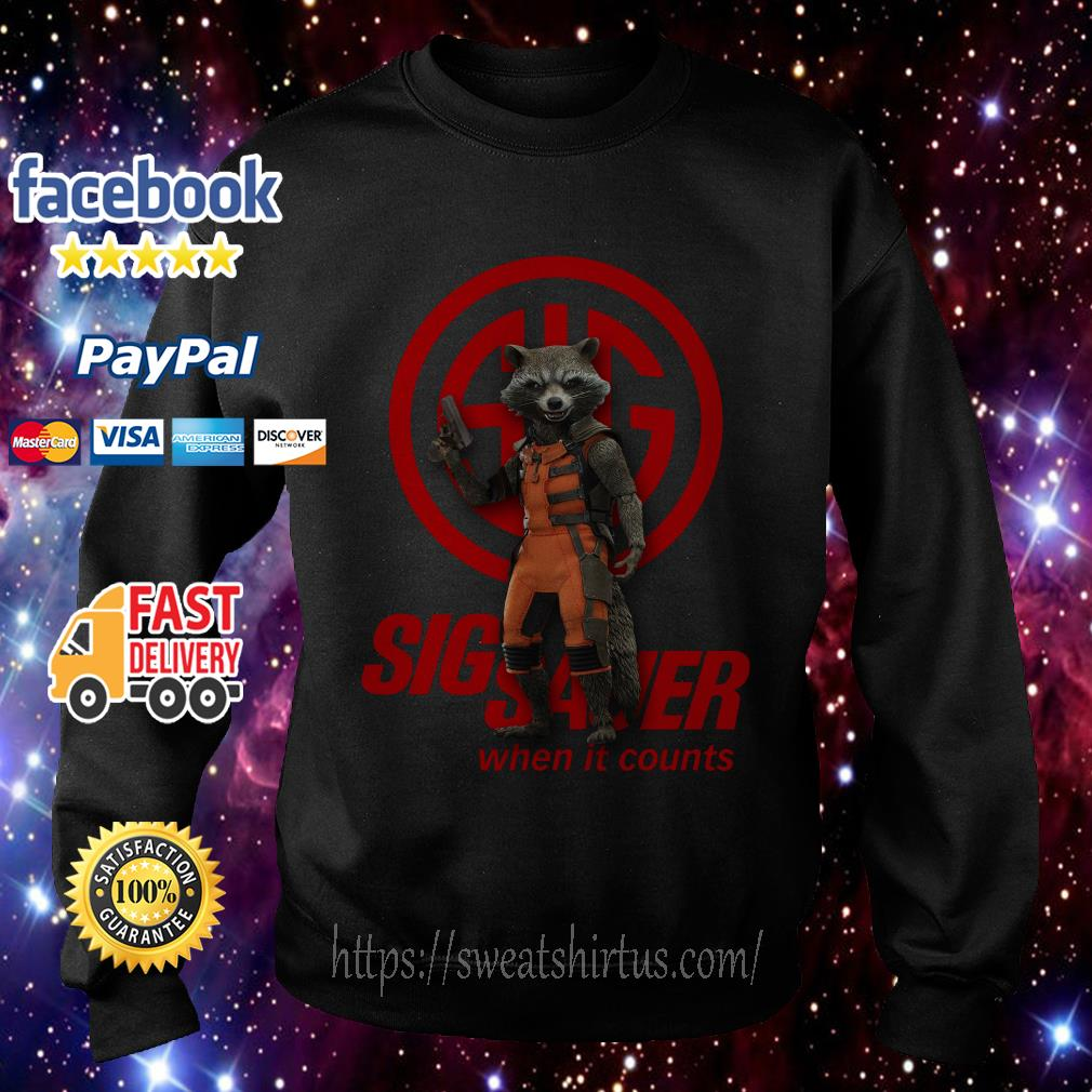 Rocket Raccoon Sig Sauer when it counts Sweater