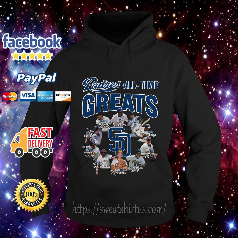 San Diego Padres All-Time Greats Team signature Hoodie