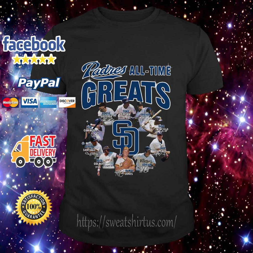 San Diego Padres All-Time Greats Team signature shirt