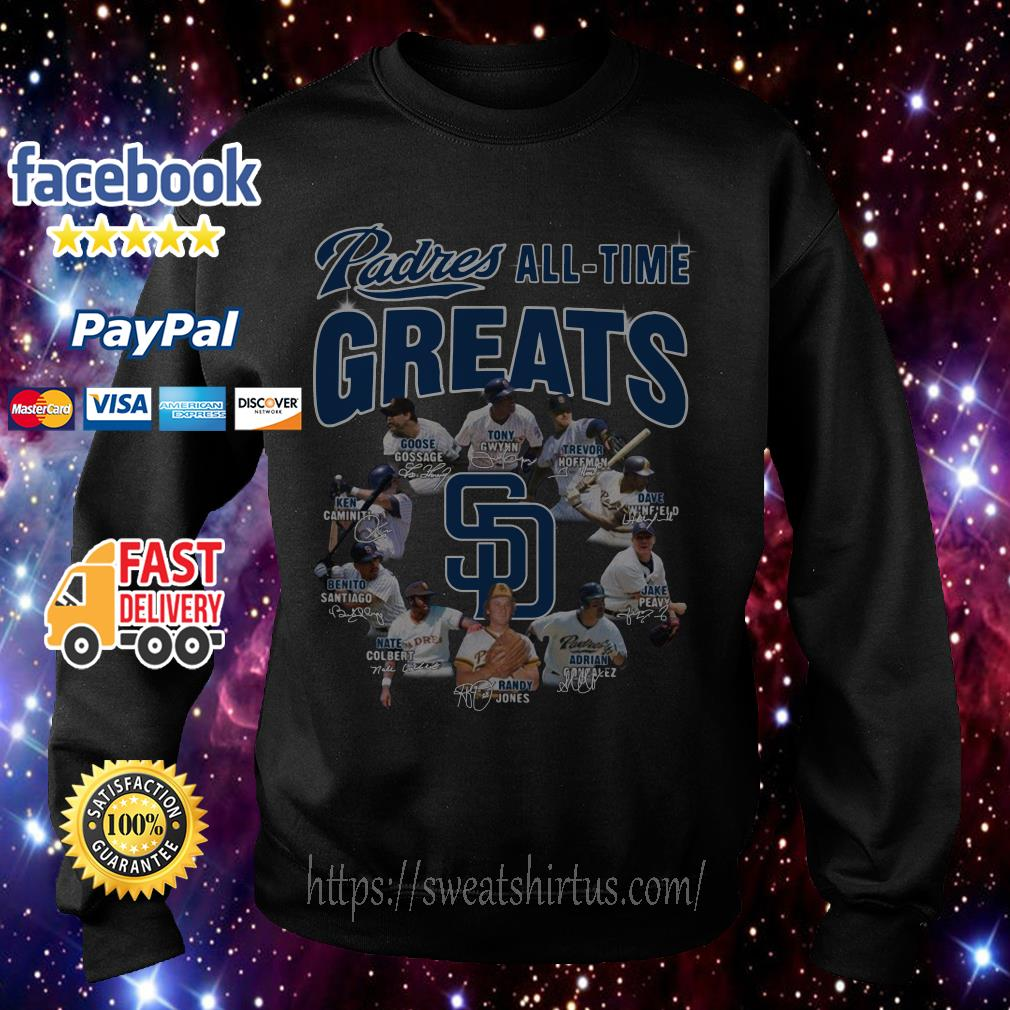 San Diego Padres All-Time Greats Team signature Sweater
