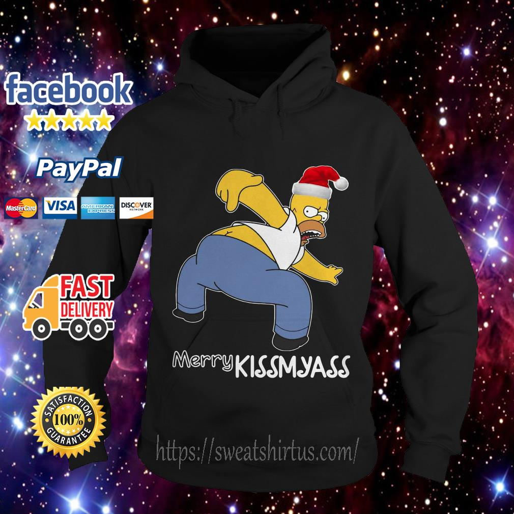 Simpsons Santa Merry Kissmyass Hoodie