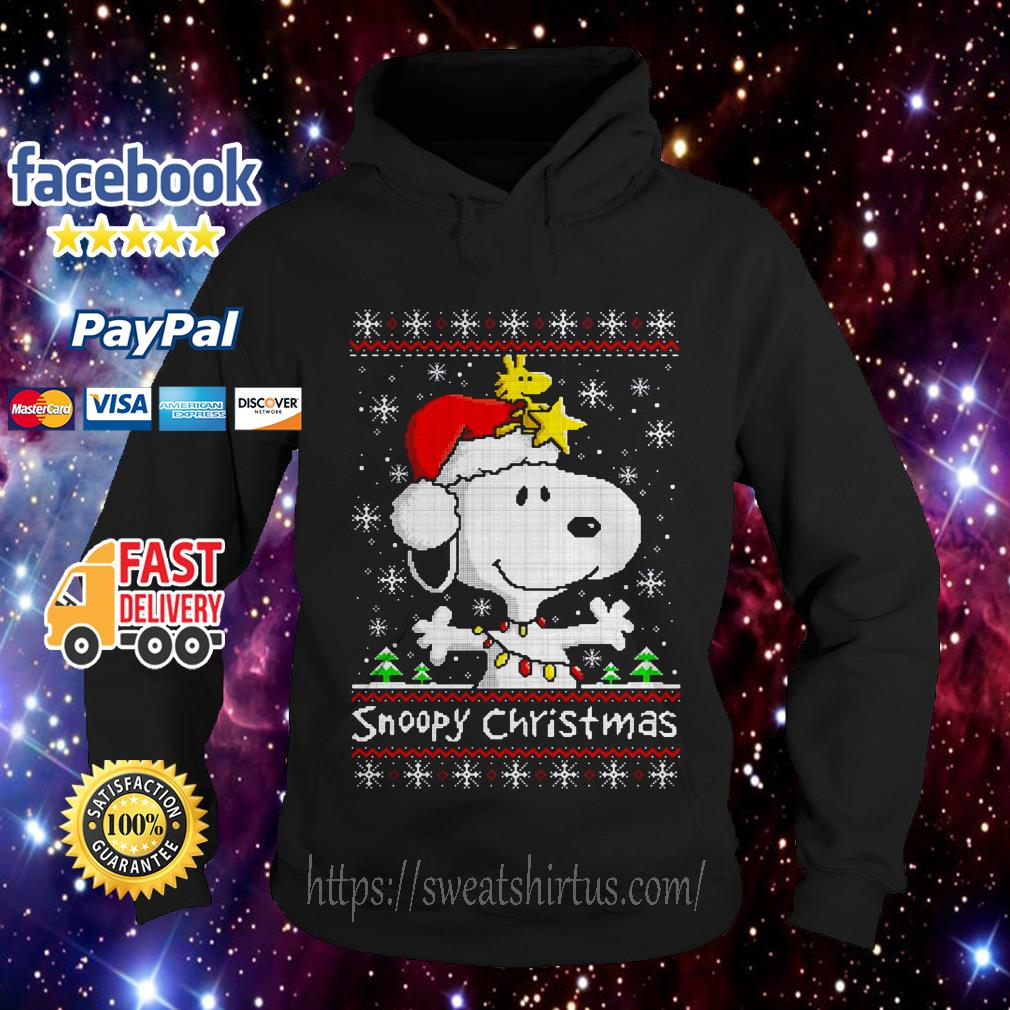 Snoopy and Woodstock Christmas ugly Hoodie
