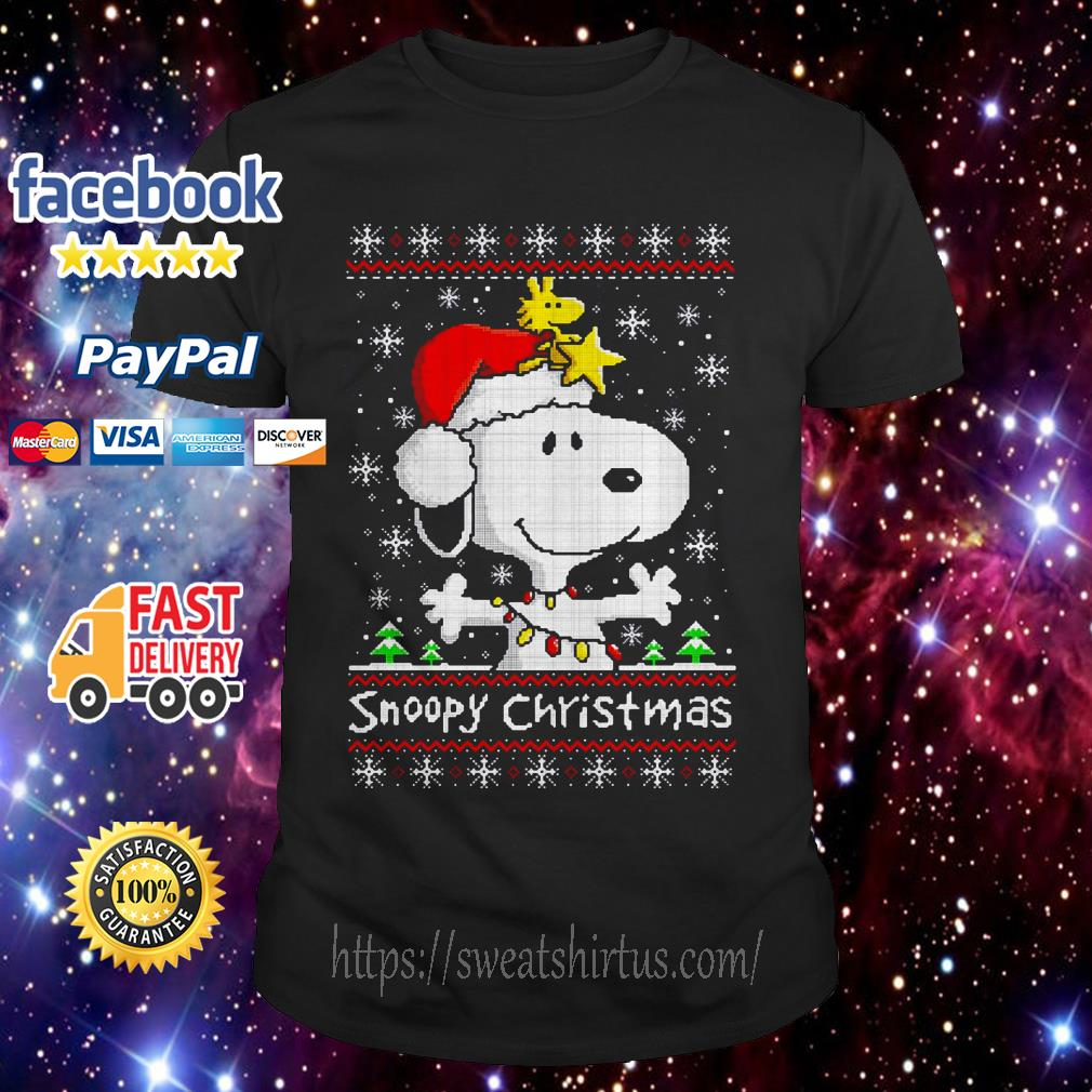 Snoopy and Woodstock Christmas ugly guys shirt