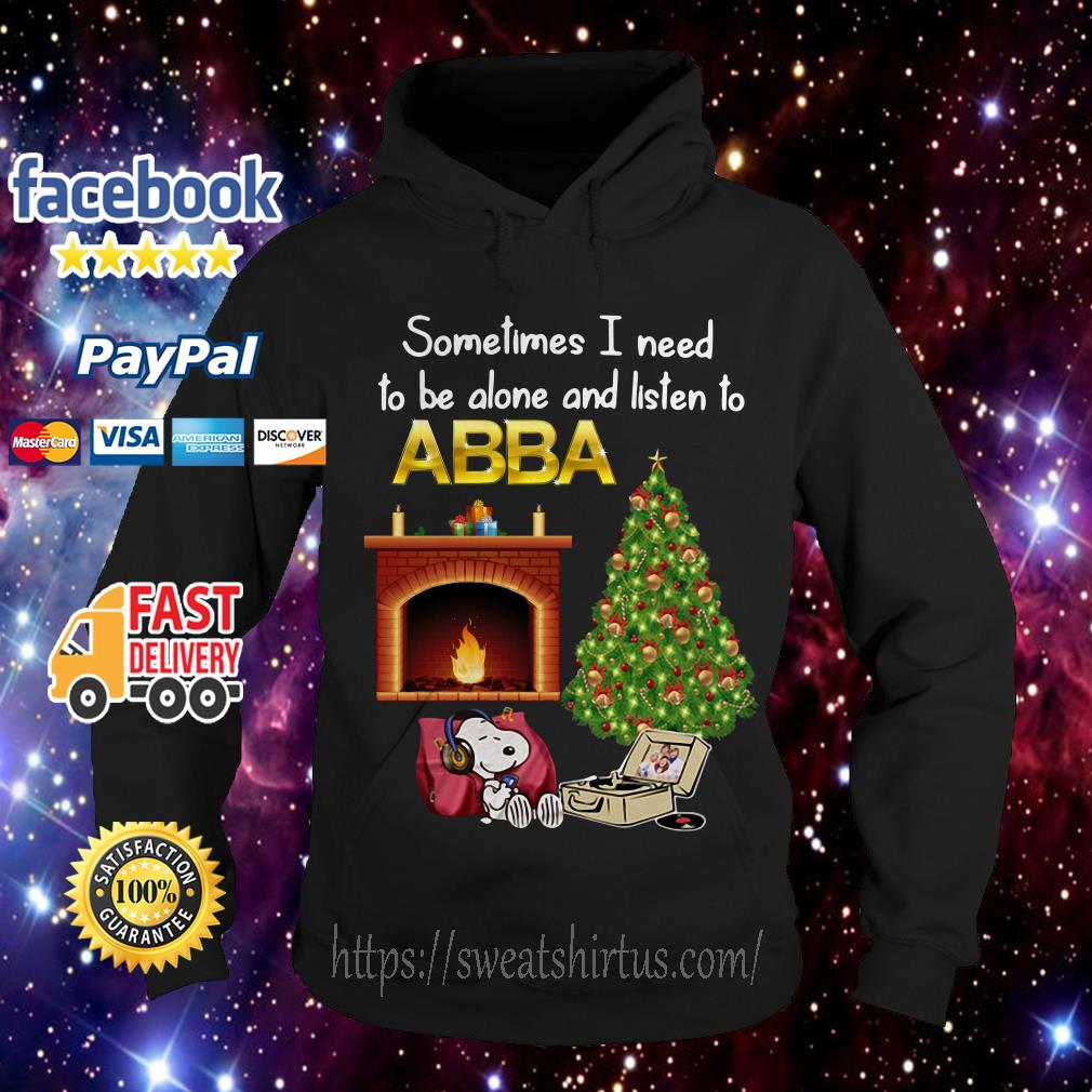 Snoopy Sometimes I need to be alone and listen to ABBA Christmas Hoodie