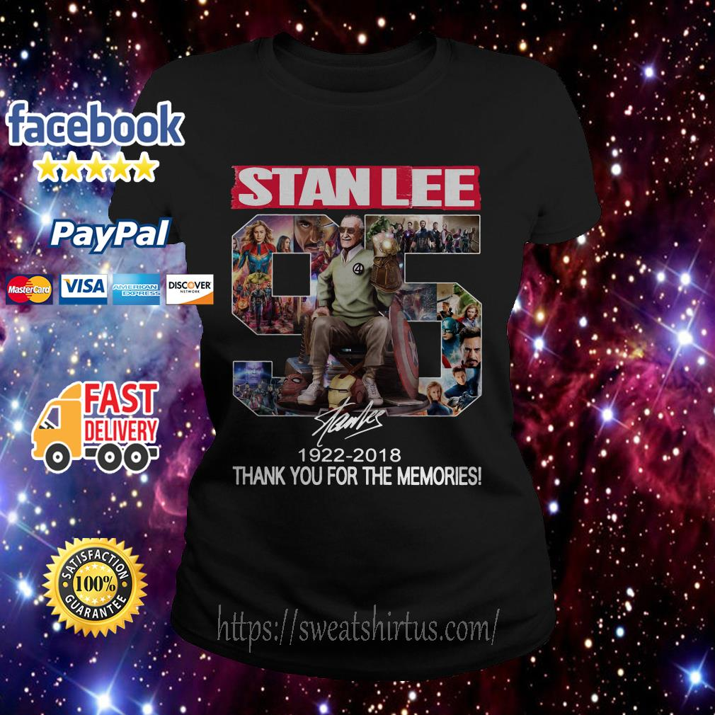 StandLee 95 1922-2018 thank you for the memories signature Ladies Tee