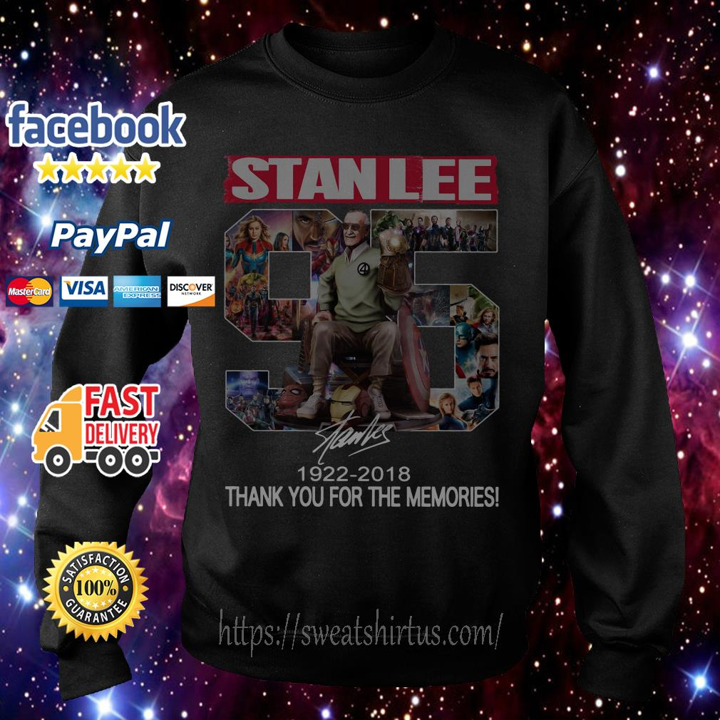StandLee 95 1922-2018 thank you for the memories signature Sweater