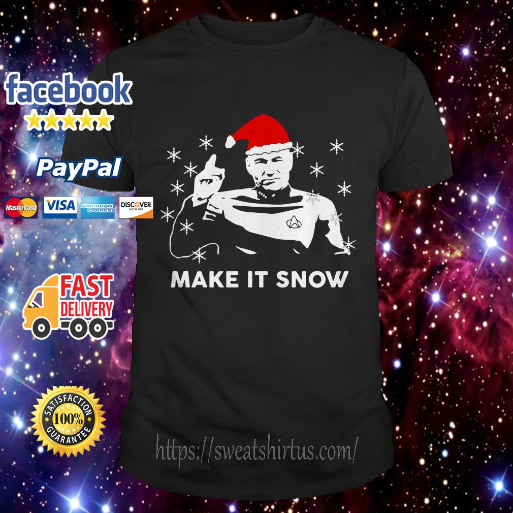 Star Trek Santa make it snow Christmas guys shirt