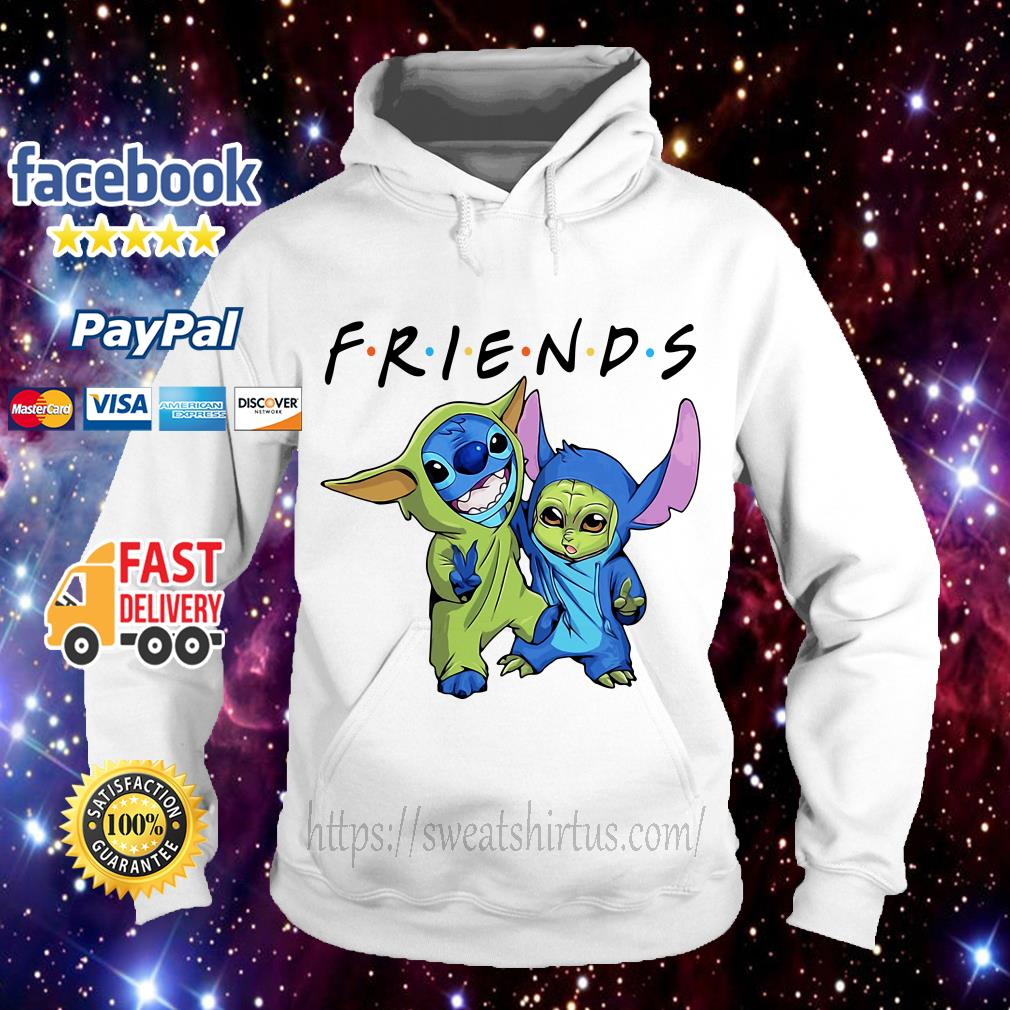 Stitch and Baby Yoda Friends TV Show Hoodie