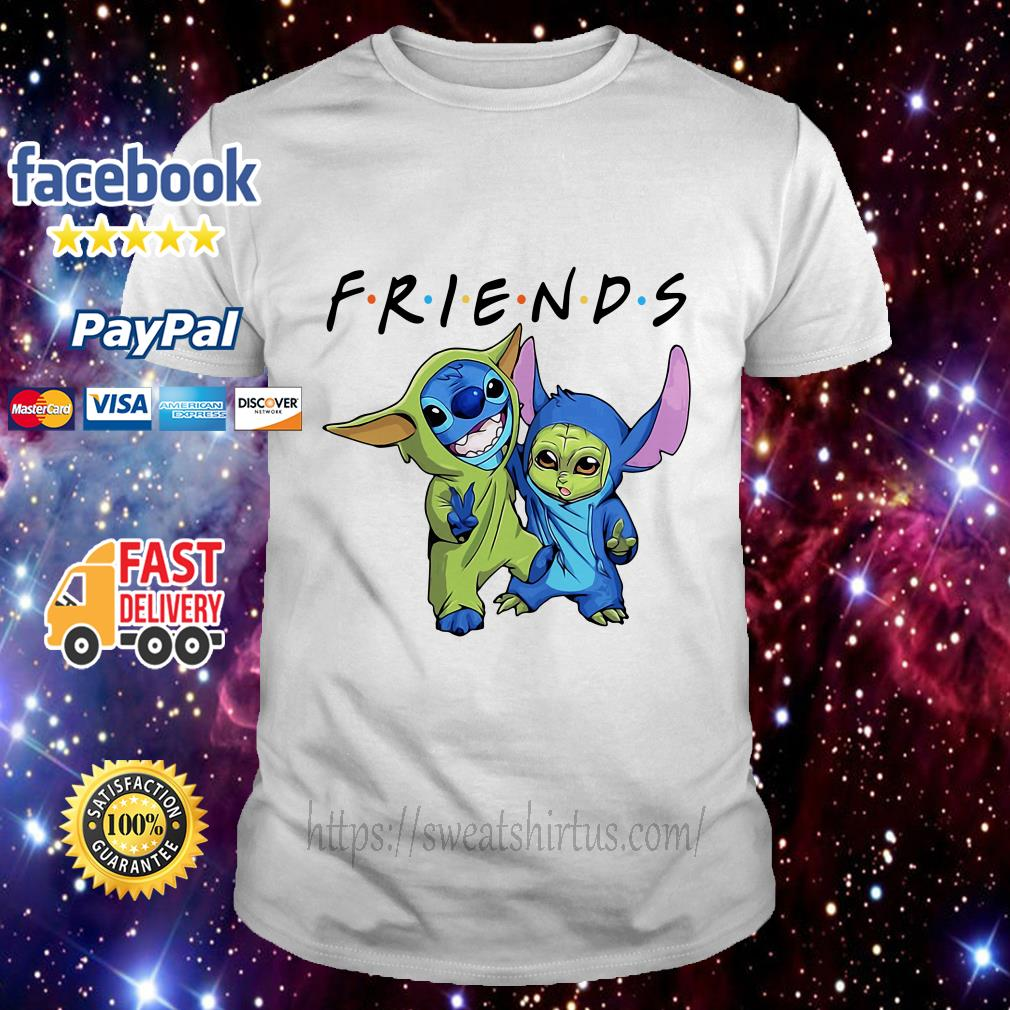 Stitch and Baby Yoda Friends TV Show shirt