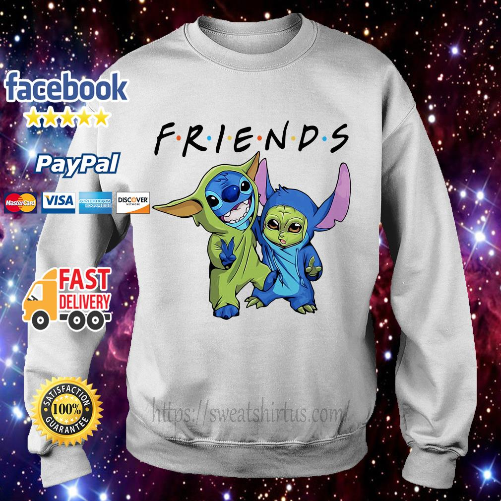 Stitch and Baby Yoda Friends TV Show Sweater