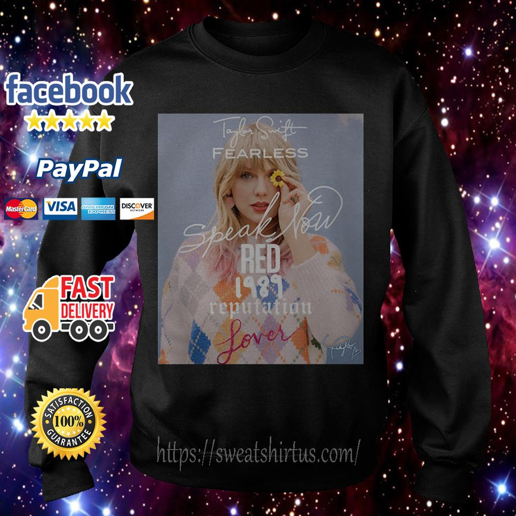 Taylor Swift Fearless Speak Now Red 1989 Reputation signature Sweater