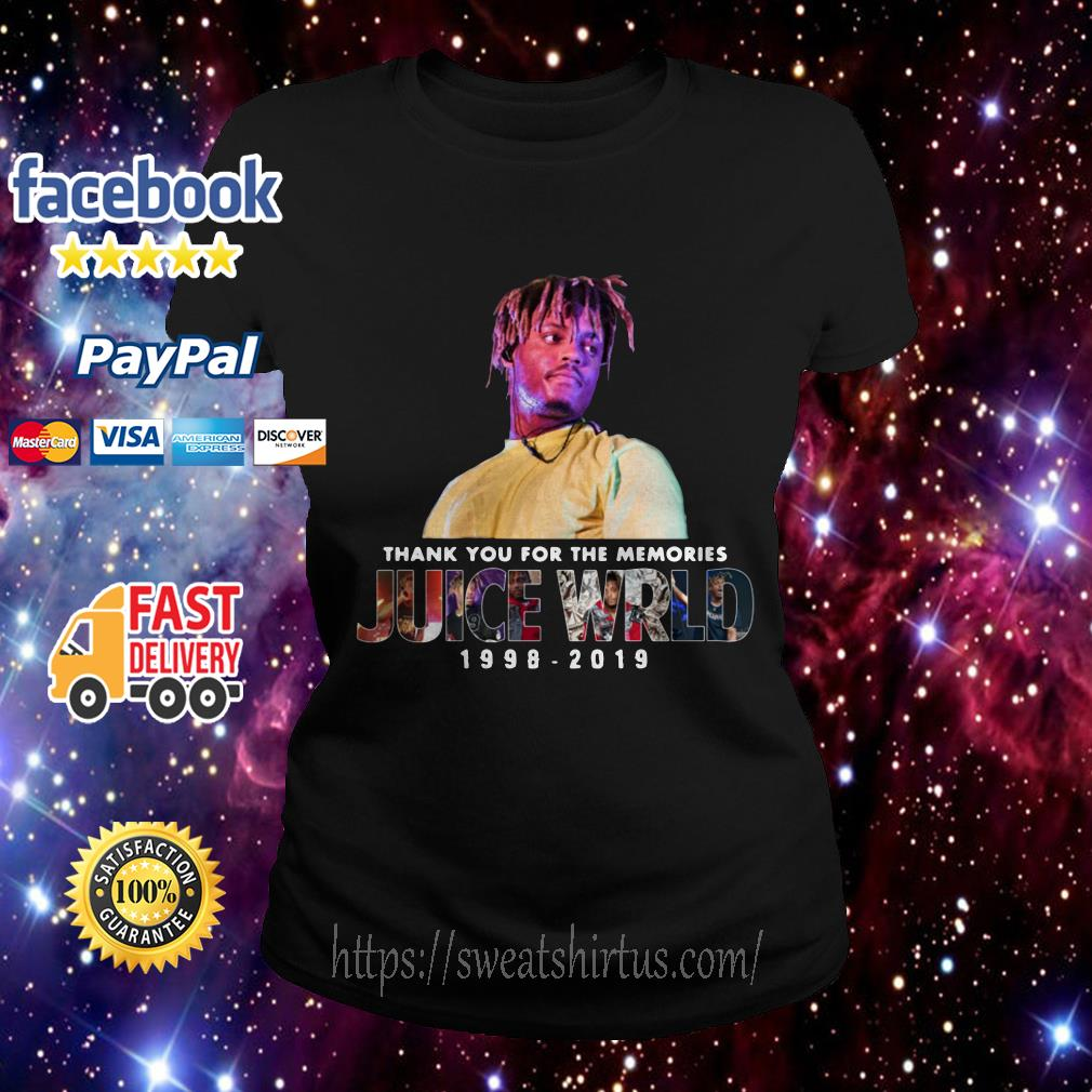 Thank you for the memories Juice Wrld 1998-2019 Ladies Tee
