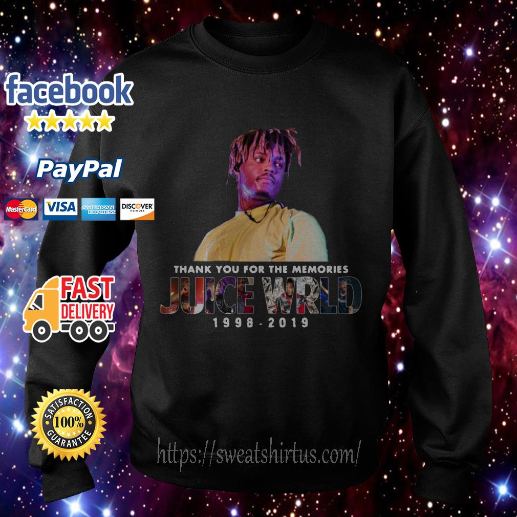 Thank you for the memories Juice Wrld 1998-2019 Sweater