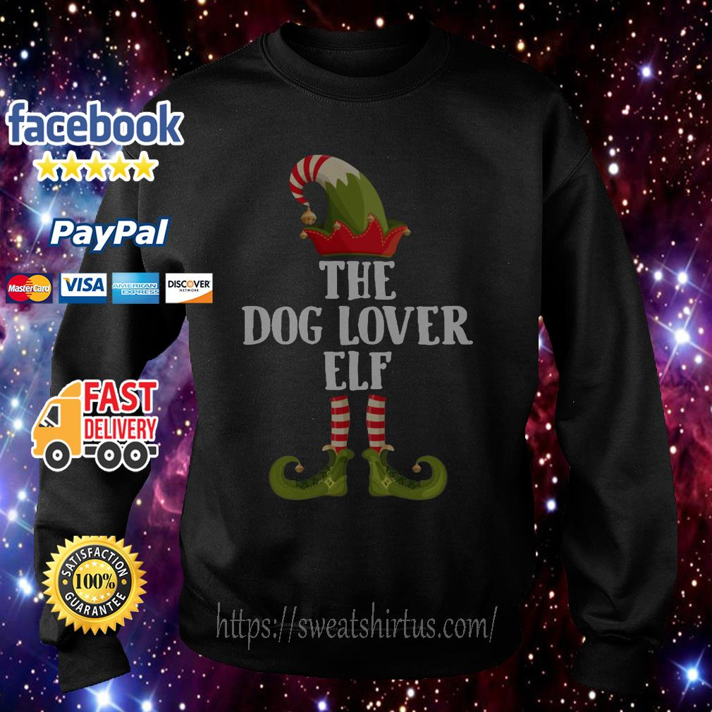 The Dog Lover Elf Christmas shirt, sweater