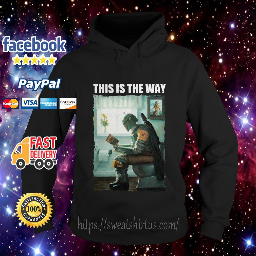 The Mandalorian this is the way reading Harry Potter Hoodie