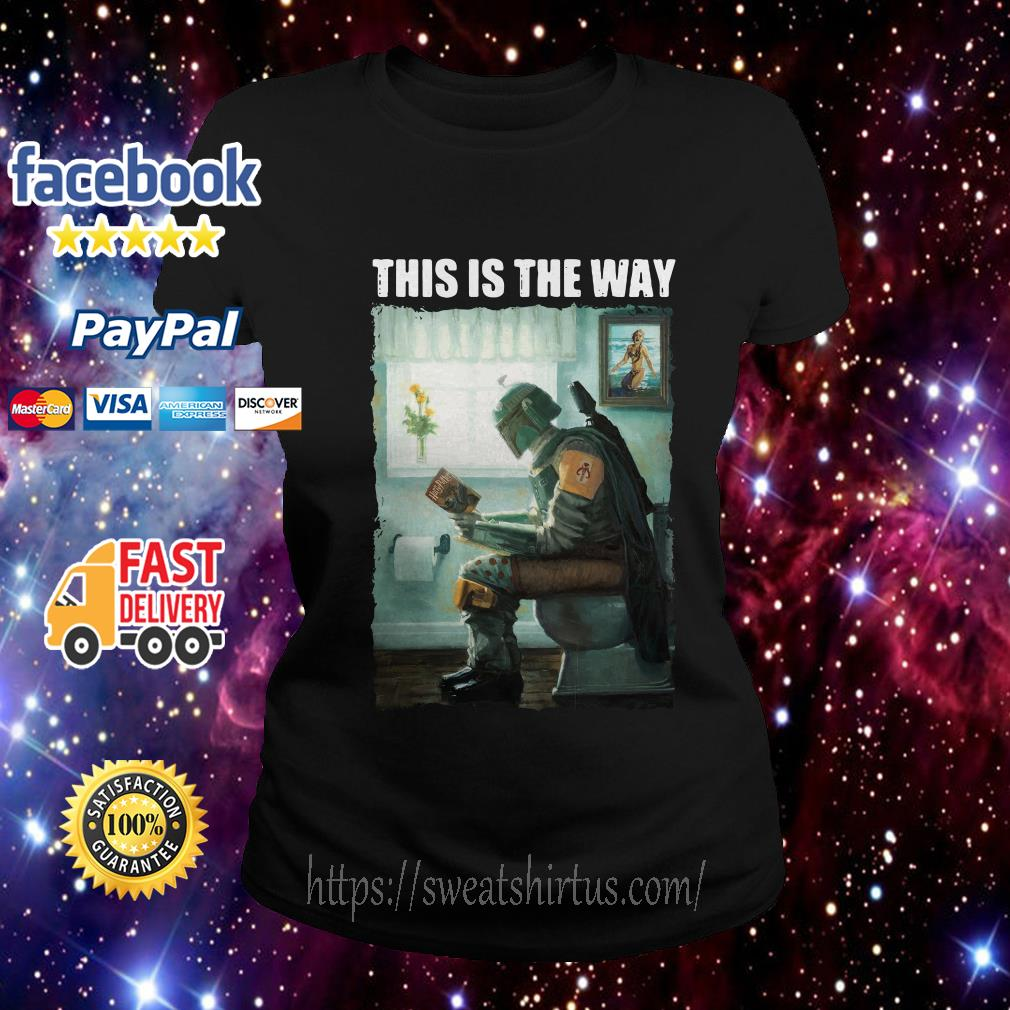 The Mandalorian this is the way reading Harry Potter Ladies Tee