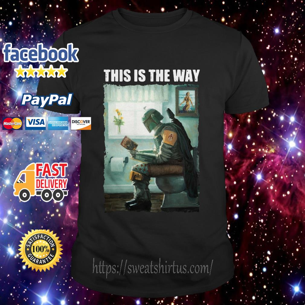 The Mandalorian this is the way reading Harry Potter shirt
